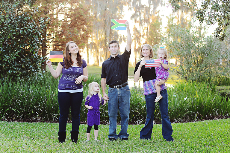 Flags in Family Pictures