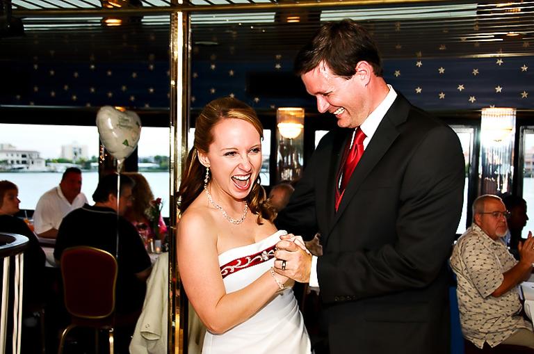 Starlite cruise wedding reception