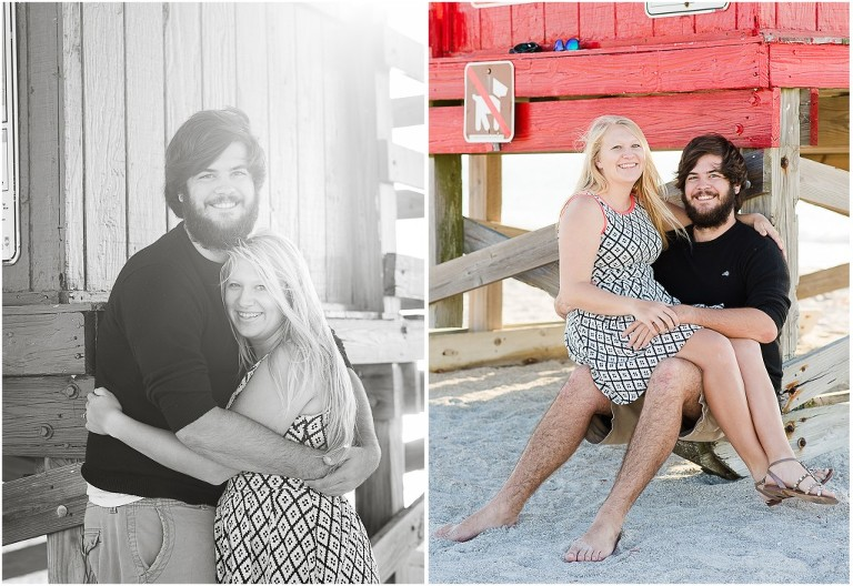 clearwater beach engagement pictures